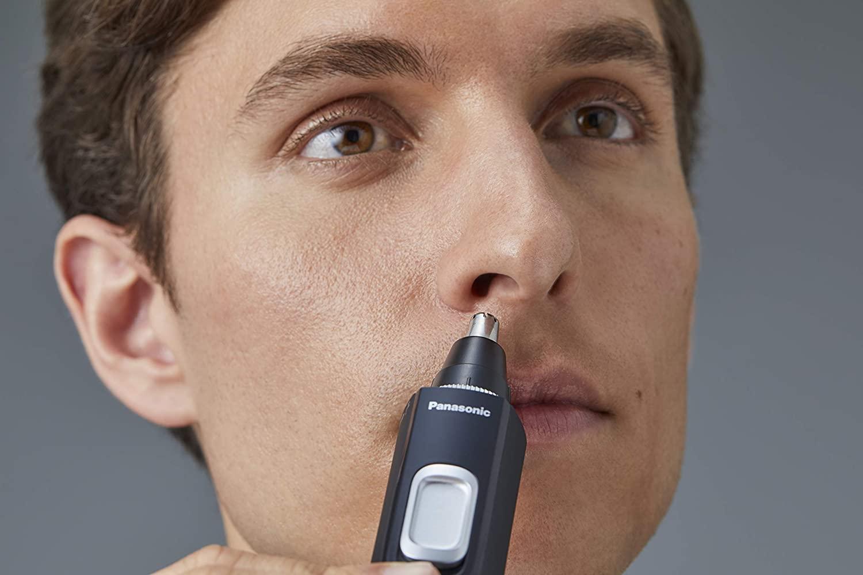 Nasenhaare entfernen mit einem Panasonic Nasenhaartrimmer